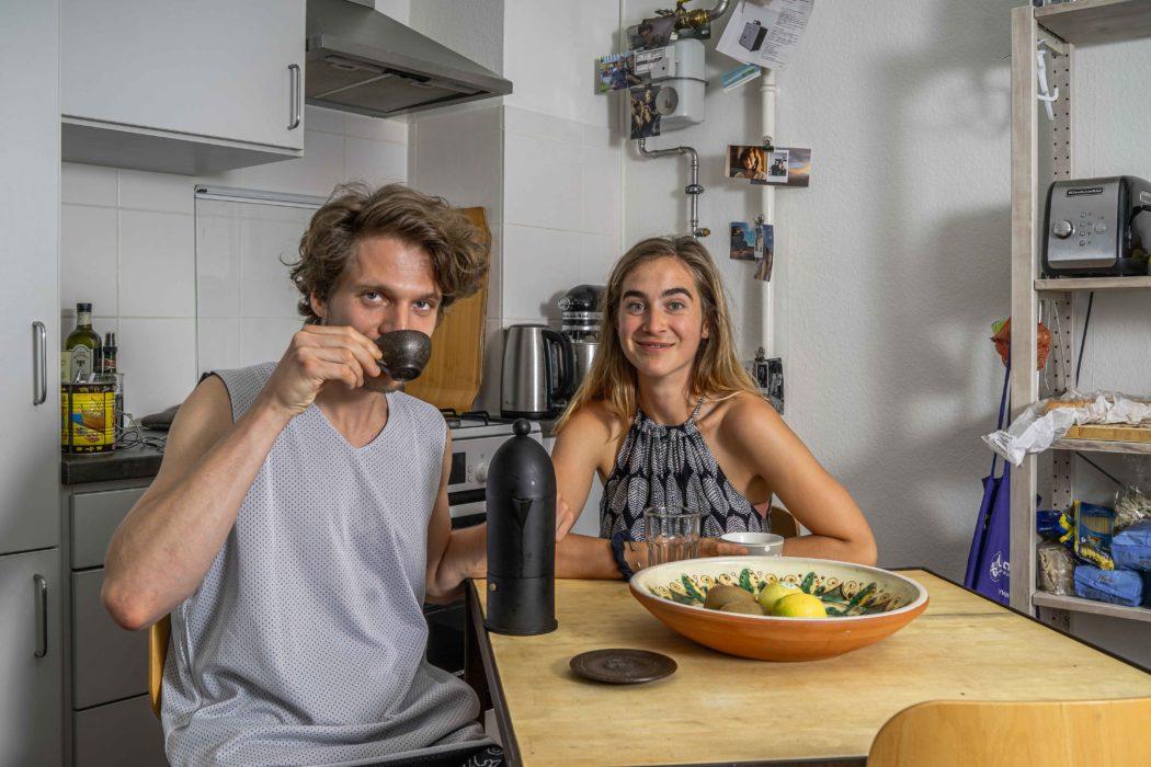 couple kitchen