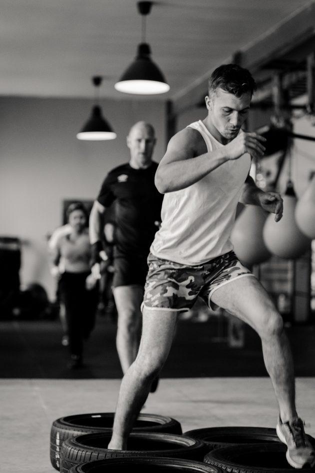 riverside boxing warmup tire parkour