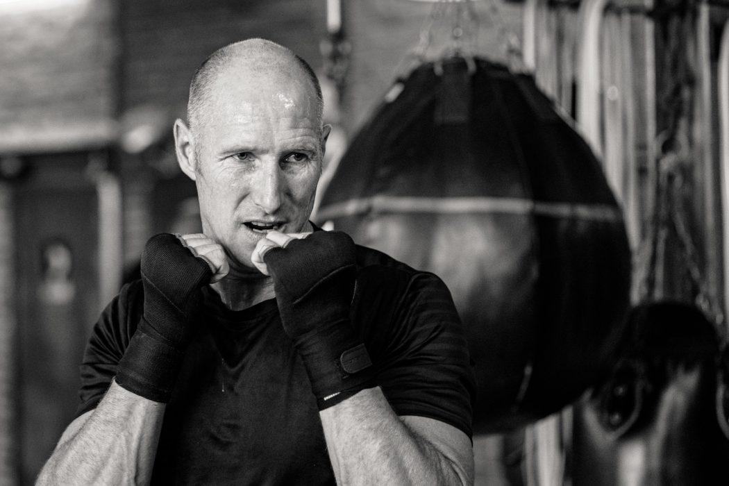 riverside boxing sparring man