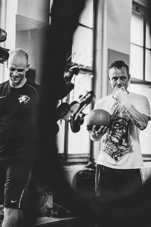riverside boxing strength training man carry ball