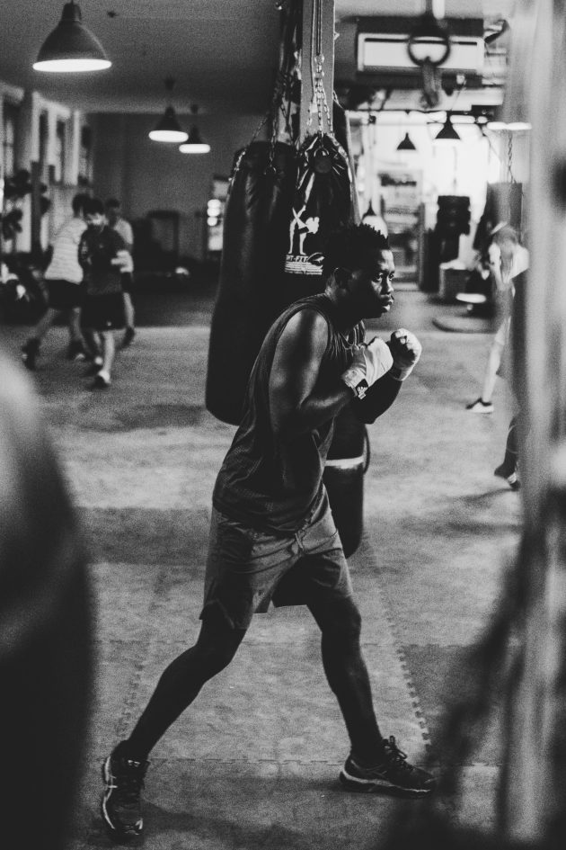 riverside boxing sparring shadow boxing
